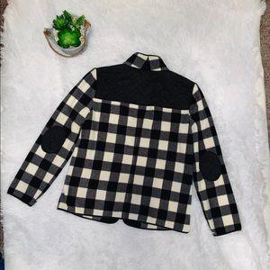Talbots Black and white check fleece jacket
